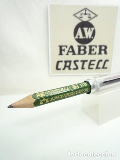 A.W. FABER EXCEPCIONAL ANTIGUO CONJUNTO DE EXTENSOR EN ALUMINIO CON LAPIZ ESPECIAL. GERMANY 40'S (Plumas Estilográficas, Bolígrafos y Plumillas - Plumillas y Otros Elementos de Escribanía)