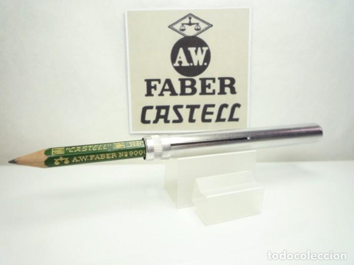 Escribanía: A.W. FABER EXCEPCIONAL ANTIGUO CONJUNTO DE EXTENSOR EN ALUMINIO CON LAPIZ ESPECIAL. GERMANY 40'S - Foto 2 - 152017350