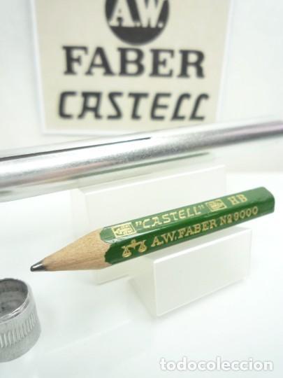 Escribanía: A.W. FABER EXCEPCIONAL ANTIGUO CONJUNTO DE EXTENSOR EN ALUMINIO CON LAPIZ ESPECIAL. GERMANY 40'S - Foto 6 - 152017350