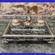 Escribanía: MAGNIFICA ESCRIBANIA IMPERIO CON AGUILA IMPERIAL EN BRONCE S.XIX. Lote 157269434