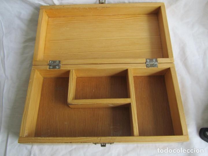 Escribanía: Juego de escritorio: grapadora+perforadora+quita grapas+grapas en estuche de madera - Foto 11 - 158956910