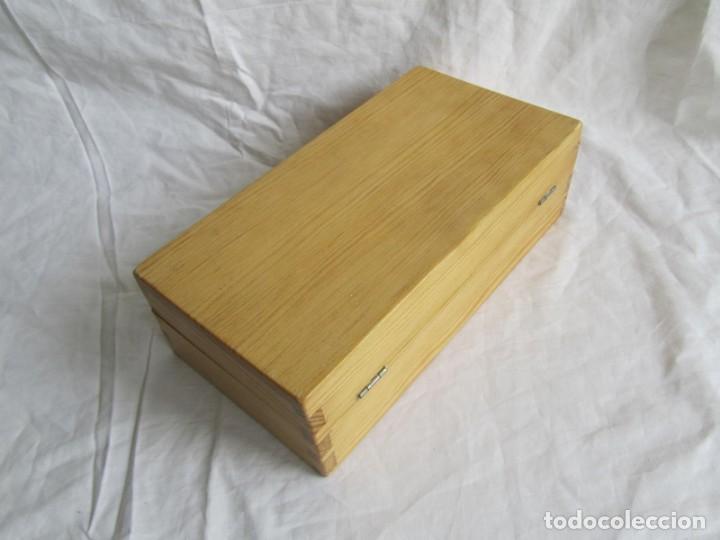 Escribanía: Juego de escritorio: grapadora+perforadora+quita grapas+grapas en estuche de madera - Foto 13 - 158956910