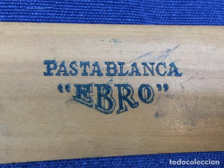Escribanía: PASTABLANCA EBRO PALETA ESPATULA PUBLICITARIA BORRAR EXTENDER ABSORBE TINTA 15,5X3,4CMS - Foto 5 - 159201894