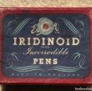 Escribanía: CAJA DE PLUMILLAS IRIDINOID - INCORRODIBLE PENS - VACIA. Lote 160605986