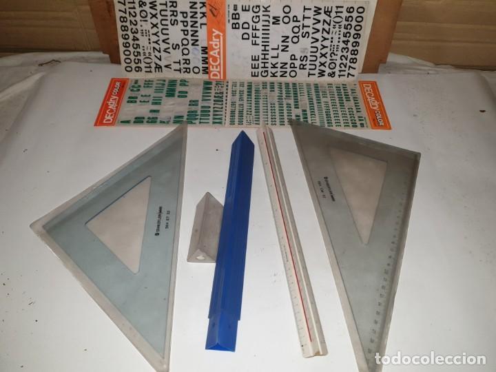 LOTE REGLAS (Plumas Estilográficas, Bolígrafos y Plumillas - Plumillas y Otros Elementos de Escribanía)