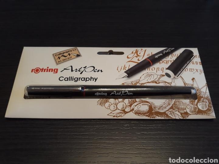 ANTIGUA ESTILOGRÁFICA ROTRING ART PEN CALLIGRAPHY (Plumas Estilográficas, Bolígrafos y Plumillas - Plumillas y Otros Elementos de Escribanía)
