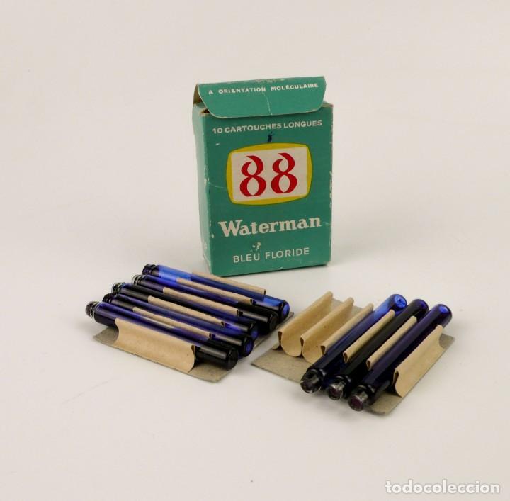 WATERMAN 88 - CARTUCHOS DE CRISTAL DE TINTA - BLEU FLORIDE (Plumas Estilográficas, Bolígrafos y Plumillas - Plumillas y Otros Elementos de Escribanía)