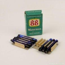 Escribanía: WATERMAN 88 - CARTUCHOS DE CRISTAL DE TINTA - BLEU FLORIDE . Lote 161834786