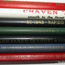 Escribanía: LOTE 7 ANTIGUOS LÁPICES,LÁPIZ,AMERICAN PENCIL CO.,HISPANIA,JOHANN FABER SINDEL,RAPIDO,CRAVEN......... Lote 162373785