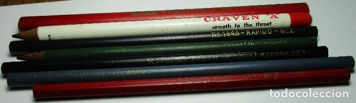 Escribanía: Lote 7 antiguos lápices,lápiz,AMERICAN PENCIL CO.,HISPANIA,JOHANN FABER SINDEL,RAPIDO,CRAVEN........ - Foto 2 - 162373785