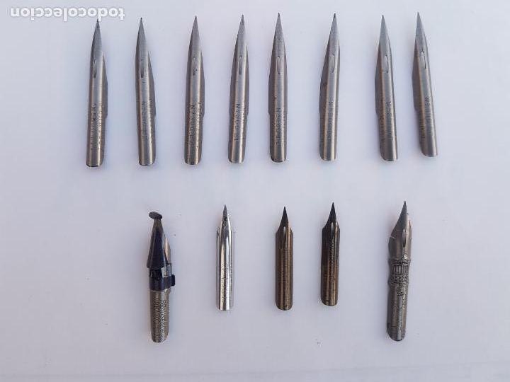 Escribanía: Lote de 13 antiguas plumillas . Excelente Estado. Incluye una Brause y 2 Esterbrook - Foto 4 - 162813926
