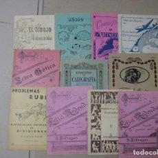 Escribanía: 11 CUADERNOS DE CALIGRAFÍA, DIBUJO, MATEMATICAS AÑOS 50, PLUMILLAS ESCRITURA. Lote 164451506