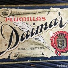 Escribanía: ANTIGUA CAJA DE PLUMILLAS DAIMAR. CONTIENE 80 PLUMILLAS. Lote 165350642