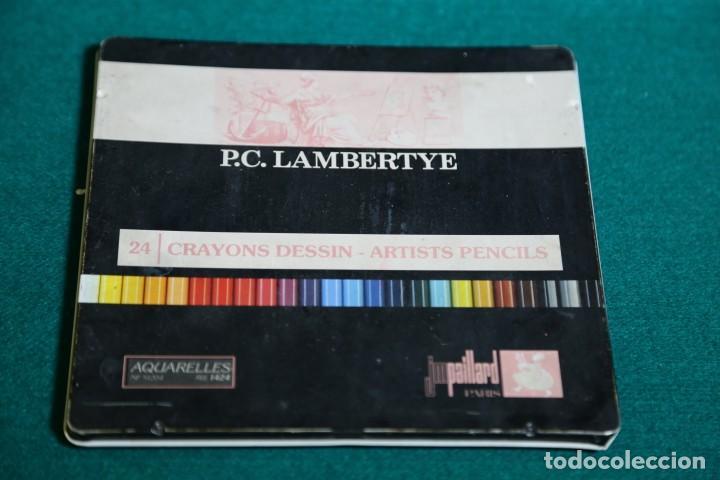 CAJA METALICA ANTIGUA P.C. LAMBERTYE. VER FOTOS (Plumas Estilográficas, Bolígrafos y Plumillas - Plumillas y Otros Elementos de Escribanía)