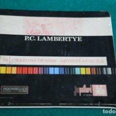 Escribanía: CAJA METALICA ANTIGUA P.C. LAMBERTYE. VER FOTOS. Lote 165496738