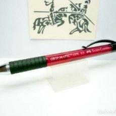Escribanía: FABER CASTELL, LÁPIZ PORTAMINAS 0.5 MM. GRIP-MATIC 1375 AVANCE GRADUAL AUTOMÁTICO COLOR ROJO. Lote 166013206