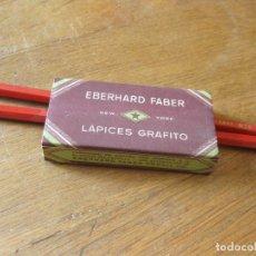 Escribanía: 2 LAPICEROS EBERHARD FABER - NEW YORK - LAPICES GRAFITO. AÑOS 60. Lote 166023250