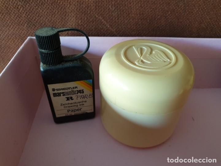 Escribanía: Lote 12 envases (tinta Pelikan, parkar, staedtler, Jeep gum) - Foto 4 - 166086938