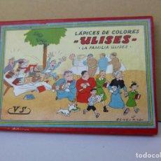 Scrivania: LAPICES DE COLORES - ULISES - LA FAMILIA ULISES DEL T.B.O. EN CAJA. Lote 167449284