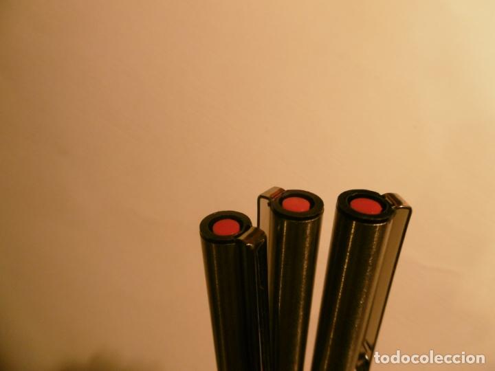 Escribanía: LOTE DE TRES ROTULADORES INOXCROM - FINE LINE - ROJOS - SIN USAR - Foto 2 - 167955256