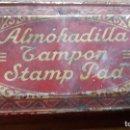 Escribanía: CAJA TAMPON ROJA METÁLICA ALMOHADILLA TAMPON STAMP PADE C. 1940. Lote 168452440