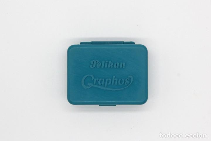 Escribanía: Pequeña caja de plástico Pelikan Graphos con 9 plumillas antiguas (2,9). Mapping Pen Made in England - Foto 9 - 168586004