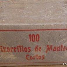 Escribanía: 100 PIZARRILLOS DE MANTECA CORTOS. EN CAJA ORIGINAL. Lote 168714508