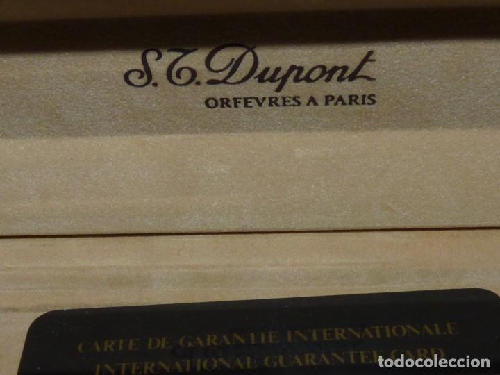 Escribanía: ELEGANTE PORTAMINAS DUPONT PLATA 925 LAPICERO CLIP LACADO PARIS GRABADO GARANTIA 1989 - Foto 5 - 169140596