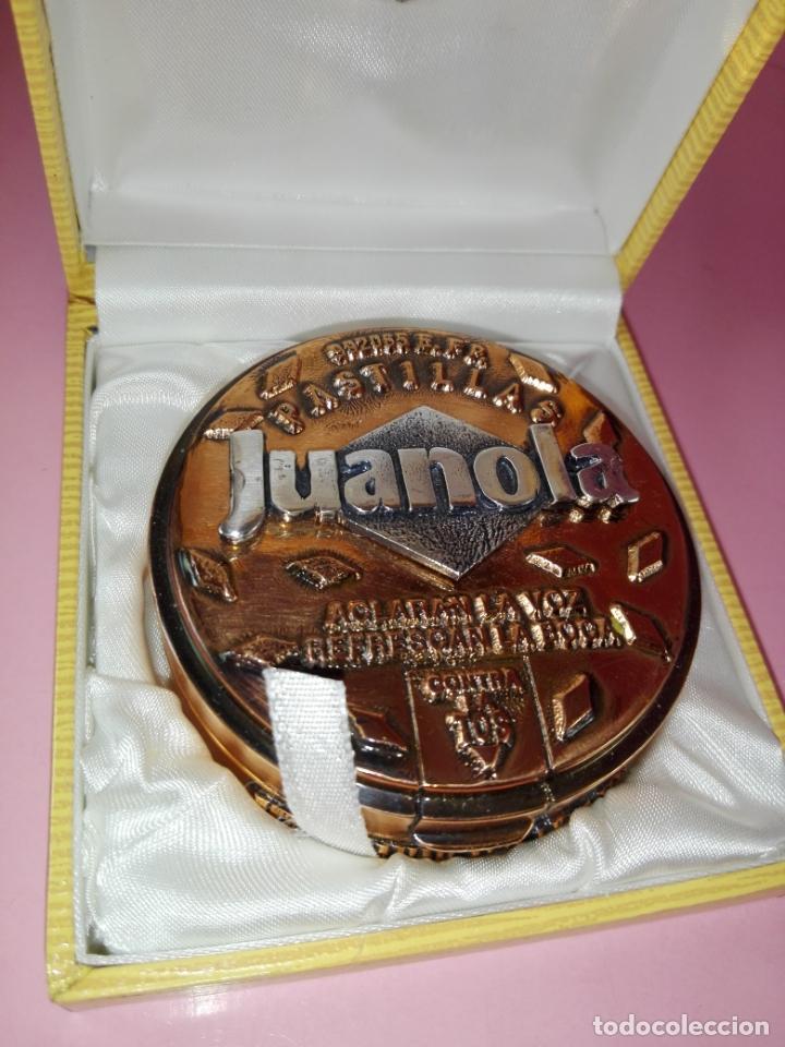 Escribanía: Pisapapeles-Cobre-pastillas Juanola-Macizo-centenario-Reproducción Caja Original 1990-Nuevo - Foto 9 - 170131484