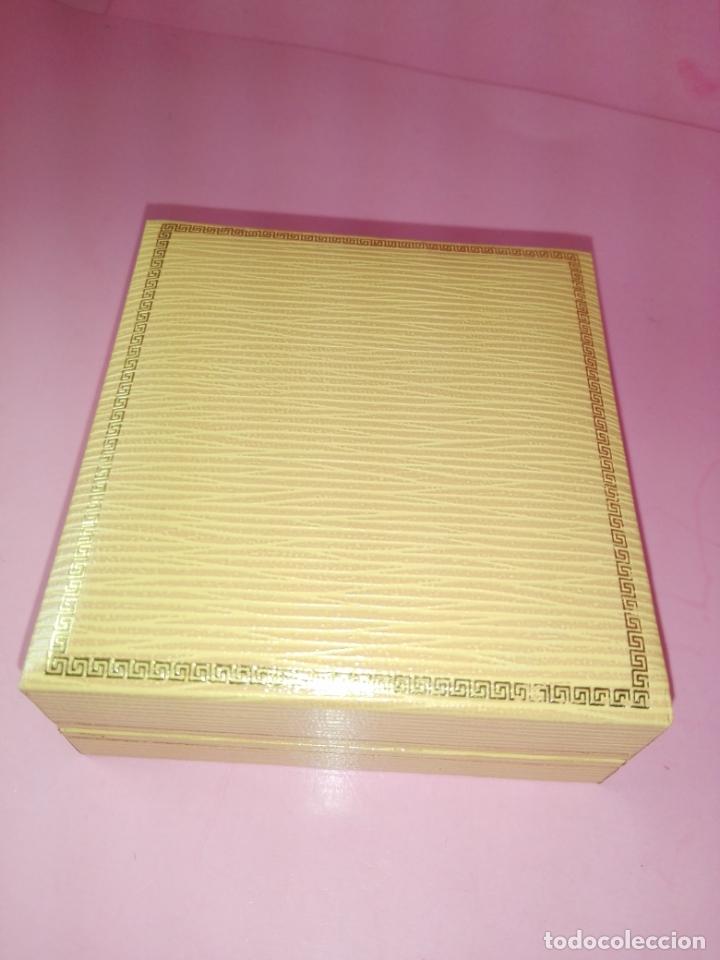 Escribanía: Pisapapeles-Cobre-pastillas Juanola-Macizo-centenario-Reproducción Caja Original 1990-Nuevo - Foto 3 - 170131484