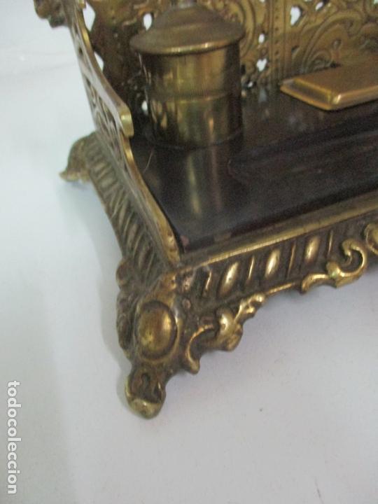 Escribanía: Bonita Escribanía - Bronce calado y Cincelado - Napoleón III, Francia - Tinteros - Finales S. XIX - Foto 5 - 170203504