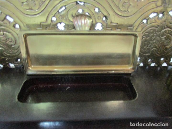Escribanía: Bonita Escribanía - Bronce calado y Cincelado - Napoleón III, Francia - Tinteros - Finales S. XIX - Foto 11 - 170203504