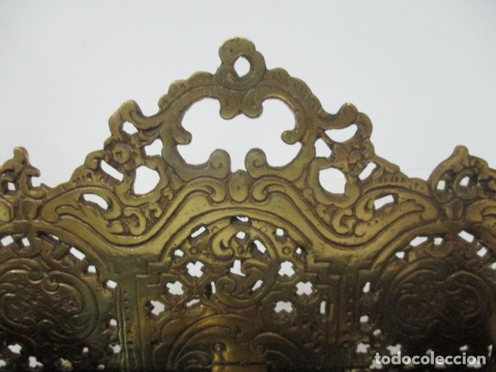 Escribanía: Bonita Escribanía - Bronce calado y Cincelado - Napoleón III, Francia - Tinteros - Finales S. XIX - Foto 13 - 170203504