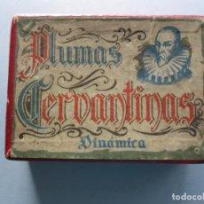 Escribanía: CAJA DE PLUMAS CERVANTINAS DEL AÑO 1942. Lote 172162610