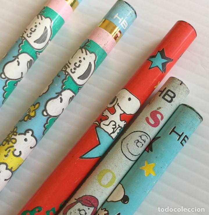 Escribanía: Lote 5 lápices HB Snoopy años 80 – Charly Brown, Sally Brown, Lucy Van Pelt, Woodstock - Foto 3 - 172290189