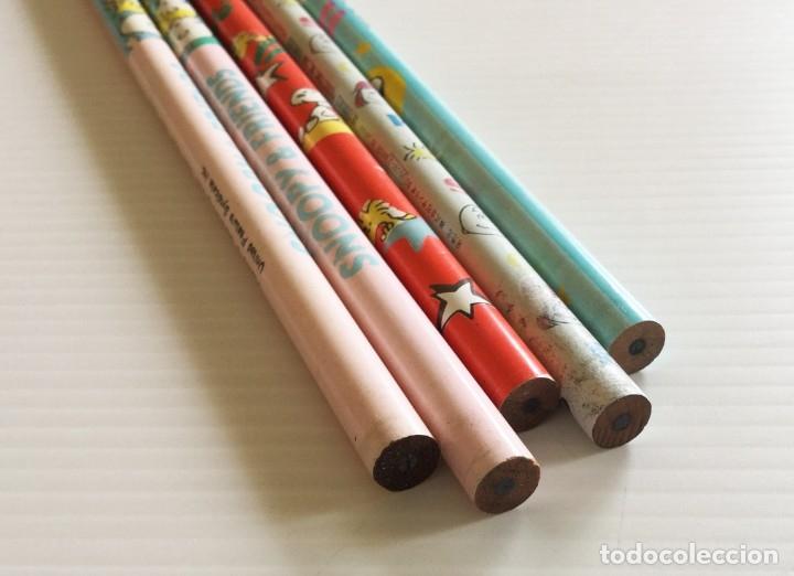 Escribanía: Lote 5 lápices HB Snoopy años 80 – Charly Brown, Sally Brown, Lucy Van Pelt, Woodstock - Foto 7 - 172290189