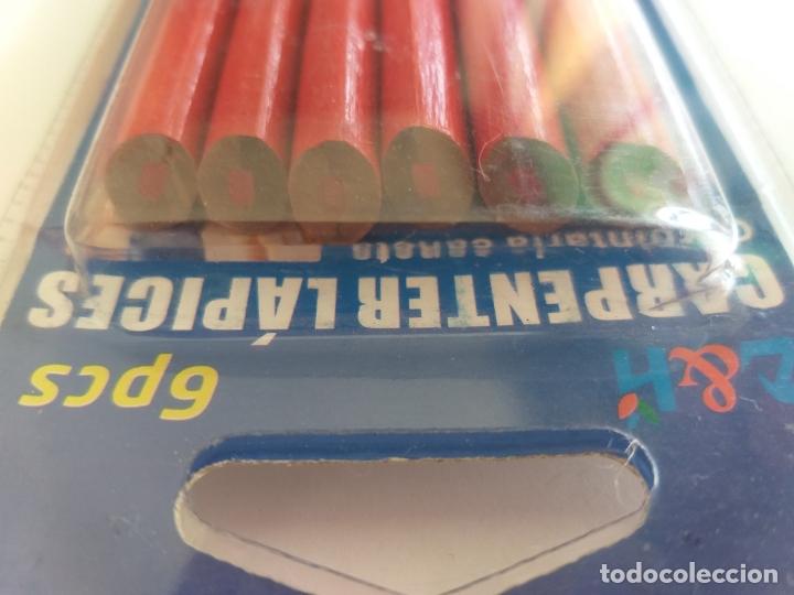 Escribanía: 6 lápices de carpintero. Marca carpentier. Dos colores. Rojo y negro - Foto 2 - 172636142