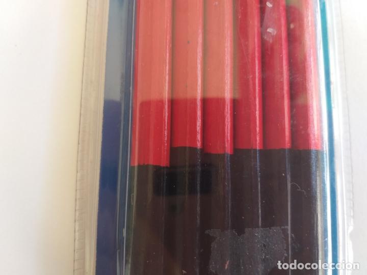 Escribanía: 6 lápices de carpintero. Marca carpentier. Dos colores. Rojo y negro - Foto 4 - 172636142