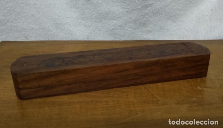 Escribanía: Antiguo Estuche escolar de madera de dos pisos - Foto 2 - 172762062