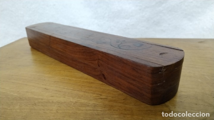 Escribanía: Antiguo Estuche escolar de madera de dos pisos - Foto 5 - 172762062