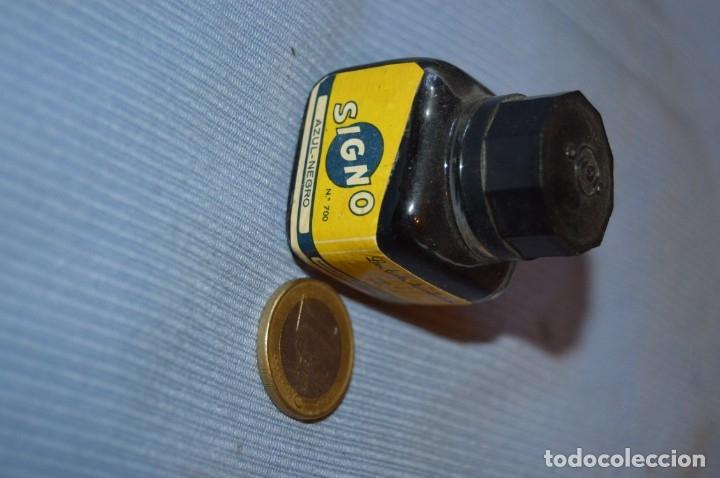 Escribanía: Tinta SIGNO - Lote antiguo de 2 frascos - bien conservados y llenos - ¡Observa fotos y detalles! - Foto 3 - 173519473