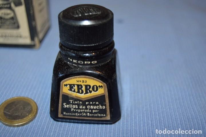 Escribanía: Tinta china EBRO - Lote antiguo, UN frasco - En su caja original - ¡Observa fotos y detalles! - Foto 2 - 173521242