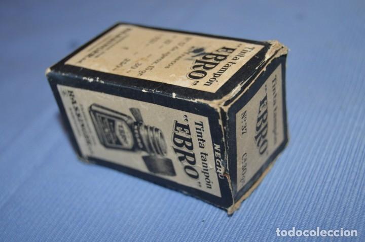 Escribanía: Tinta china EBRO - Lote antiguo, UN frasco - En su caja original - ¡Observa fotos y detalles! - Foto 3 - 173521242