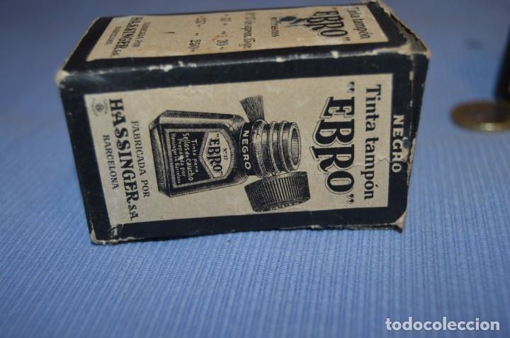 Escribanía: Tinta china EBRO - Lote antiguo, UN frasco - En su caja original - ¡Observa fotos y detalles! - Foto 4 - 173521242