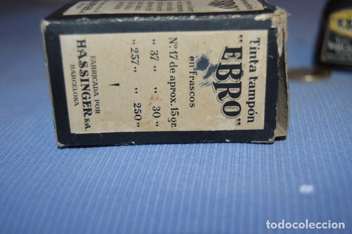 Escribanía: Tinta china EBRO - Lote antiguo, UN frasco - En su caja original - ¡Observa fotos y detalles! - Foto 5 - 173521242