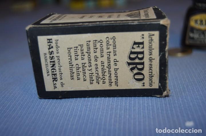 Escribanía: Tinta china EBRO - Lote antiguo, UN frasco - En su caja original - ¡Observa fotos y detalles! - Foto 6 - 173521242