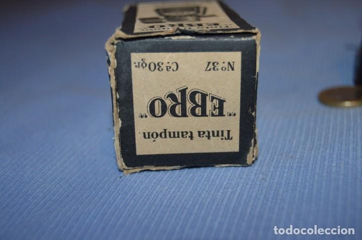 Escribanía: Tinta china EBRO - Lote antiguo, UN frasco - En su caja original - ¡Observa fotos y detalles! - Foto 8 - 173521242