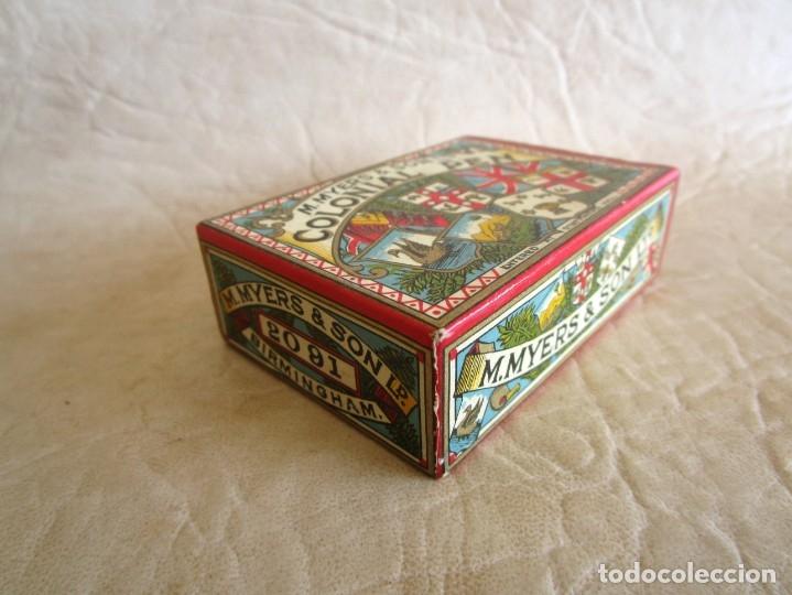 Escribanía: antigua caja con sus plumillas m. myers & son colonial pen plumilla extra fina - Foto 5 - 149569974