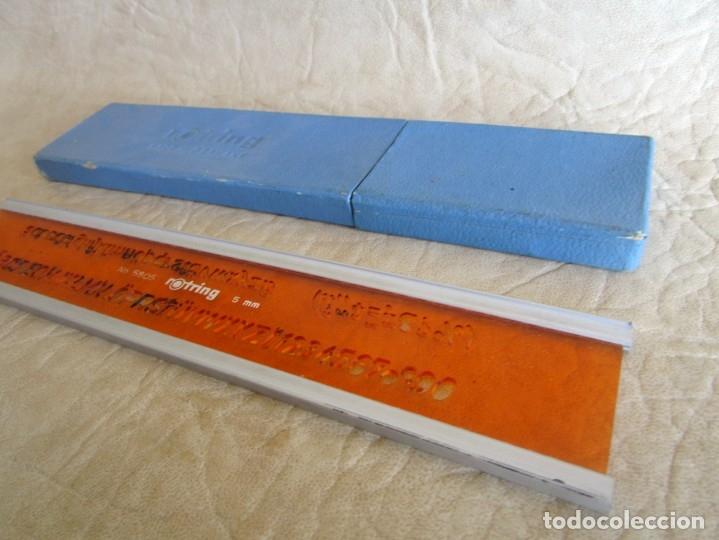 Escribanía: Antigua regla numerica rotring 5 mm - Foto 3 - 110473431