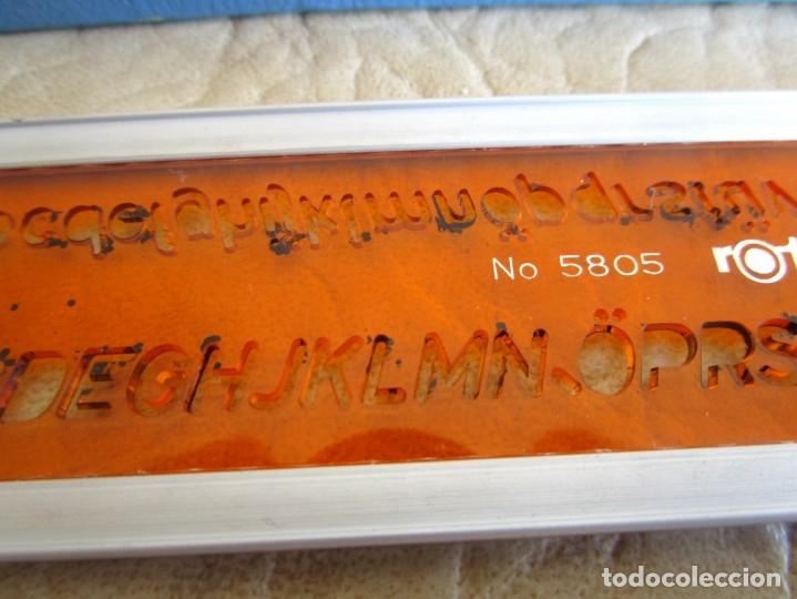 Escribanía: Antigua regla numerica rotring 5 mm - Foto 4 - 110473431